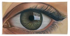 Eye - The Window Of The Soul Beach Towel