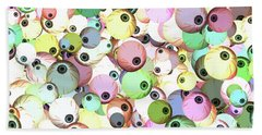 Beach Towel featuring the digital art Eyeballs by Methune Hively