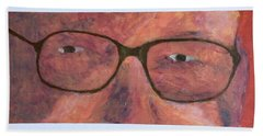 Beach Sheet featuring the painting Eyes by Donald J Ryker III