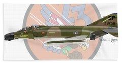 F-4d Phantom Beach Towel by Arthur Eggers