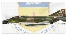F-4d Phantom Bitburg Beach Towel by Arthur Eggers