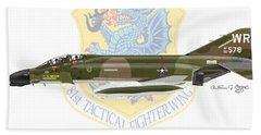F-4d Phantom II Raf Bentwaters Beach Towel by Arthur Eggers