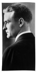 F. Scott Fitzgerald Circa 1925 Beach Sheet by David Lee Guss