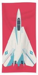 F14 Tomcat Fighter Jet Aircraft - Crimson Beach Towel