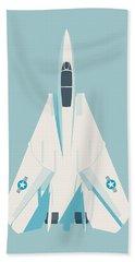 F14 Tomcat Fighter Jet Aircraft - Sky Beach Towel