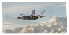 Beach Sheet featuring the photograph F35 -  Into The Future by Pat Speirs