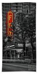Fabulous Fox Theater Beach Sheet