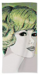 Face - Use Red-cyan 3d Glasses Beach Towel