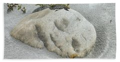 Face In The Sand At Baird Glacier Outwash Beach Towel