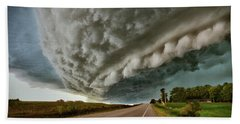 Beach Towel featuring the photograph Face In The Storm by Andrea Platt
