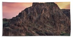 Face Of Superstitions 2 Beach Towel by Greg Nyquist