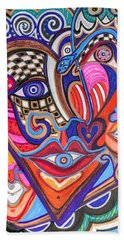 Faces Of Hope Beach Towel