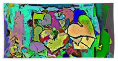 Facilitated To The Color That Is Love Beach Sheet