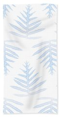 Faded Indigo Fern Array Beach Towel