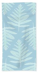 Faded Teal Fern Array Beach Towel