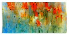 Faded Warm Autumn Wind Beach Towel