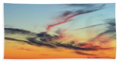 Fading Pink Reflection  Beach Towel