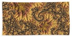 Beach Towel featuring the digital art Faerie Forest Floor II by Susan Maxwell Schmidt