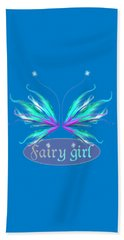 Fairy Girl Feathery Wings Beach Sheet