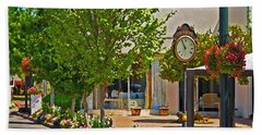 Fairhope Ave With Clock Looking North Up Section Street Beach Towel
