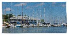 Fairhope Yacht Club Impression Beach Towel