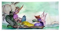Fairies At Sea Beach Towel