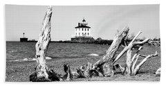 Fairport Harbor Lighthouse Beach Towel
