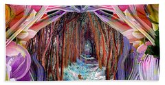 Fairy And Unicorn  Beach Sheet by Michele Avanti