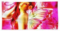 Fairy Angel In The Mix In Thick Paint Beach Towel