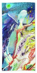 Fairy Art - Colorful Abstract Fantasy Painting Beach Sheet