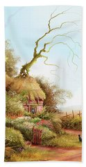 Fairy Chase Cottage Beach Towel