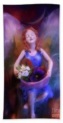 Fairy Of The Garden Beach Sheet by Joseph J Stevens