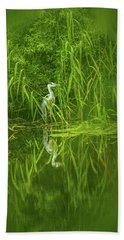 Fairy Tale Heron #g5 Beach Towel