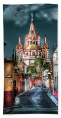 Fairy Tale Street Beach Towel