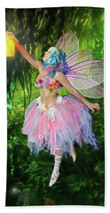 Fairy With Light Beach Towel