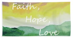 Faith Hope Love Beach Sheet