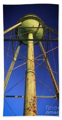 Beach Towel featuring the photograph Faithful Mary Leila Cotton Mill Water Tower Art by Reid Callaway