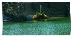 Fall Afternoon On Sheep Lake Beach Towel