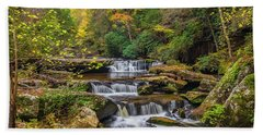 Fall At Bark Camp Creek Beach Sheet