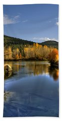 Fall At Blackbird Island Beach Towel