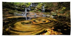 Fall At Garwin Falls Beach Towel