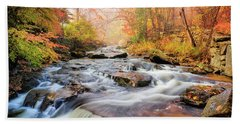 Fall At Gunstock Brook I Beach Sheet