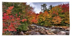 Beach Towel featuring the photograph Fall At Indian Rapids by David Patterson