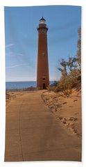 Fall At Little Point Sable Light Beach Sheet