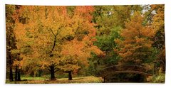 Fall At The Arboretum Beach Towel