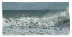 Fall At The Shore Beach Towel