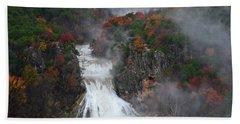 Fall At Turner Falls Beach Towel