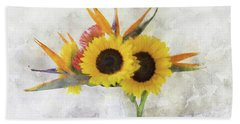 Beach Towel featuring the digital art Fall Bouquet by Sue Collura