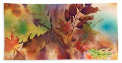Fall Bouquet Beach Sheet