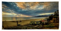 Fall Clouds Over The Bay Beach Towel
